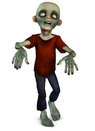 3d halloween: walking zombie Stock Photo