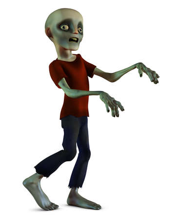 3d halloween: walking zombie Stock Photo