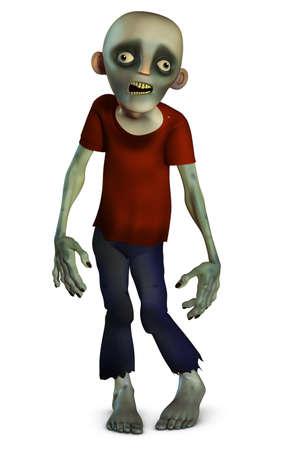 zombie cartoon: 3d cartoon halloween zombie