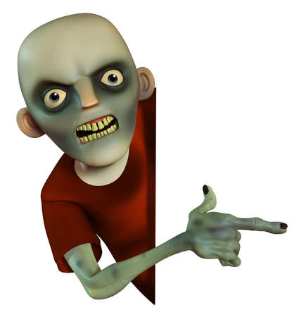 scary man: 3d cartoon halloween zombie