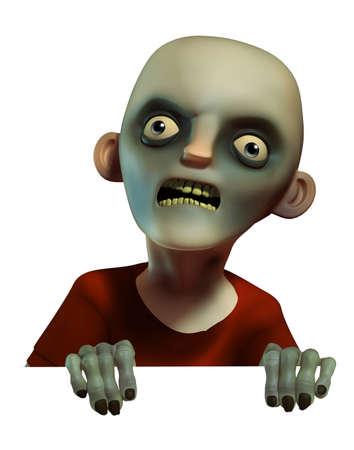 3d scary: Horror zombie Stock Photo