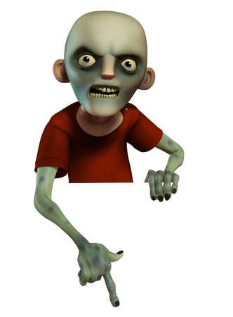 Evil zombie photo