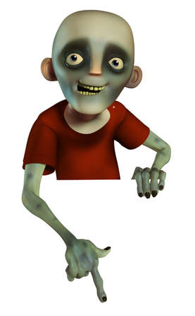 3d halloween: 3d cartoon halloween zombie