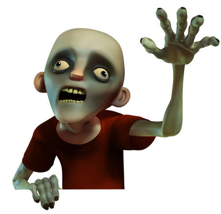 disgusting: Halloween zombie Stock Photo