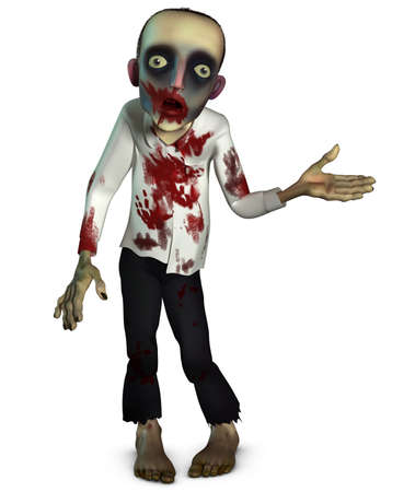 bloody: 3d cartoon bloody zombie