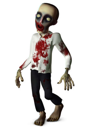 disgusting: the going bloody zombie Stock Photo