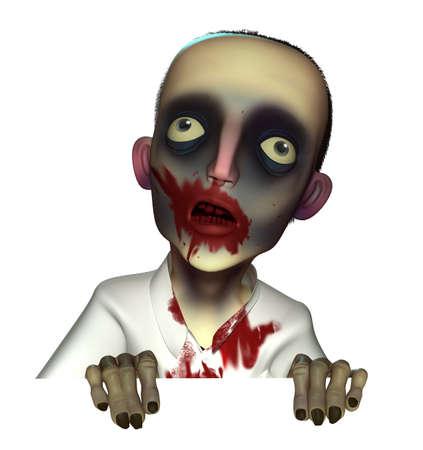 disgusting: Halloween bloody zombie
