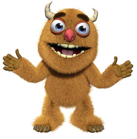 abominable: 3d cartoon cute furry alien