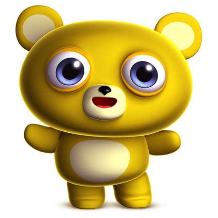 clumsy: 3d cartoon cute bear