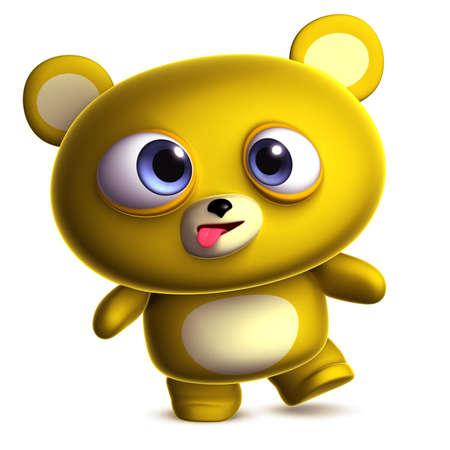 3d dibujos animados lindo oso