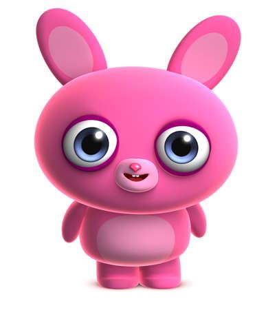 3d cartoon cute bunny Stock Photo