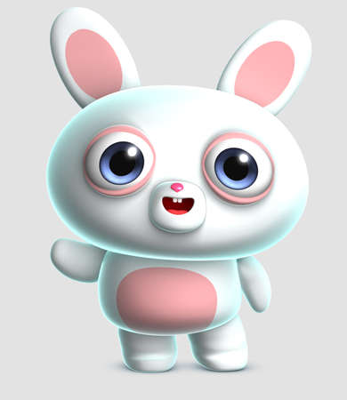 3d cartoon cute bunny photo