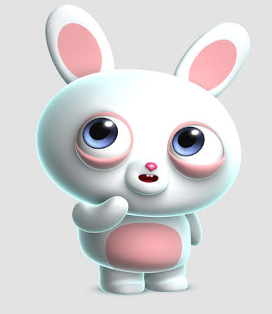 3d cartoon cute bunny Stock Photo - 15657670