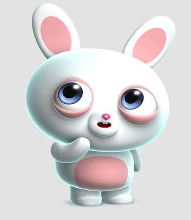 3d cartoon cute bunny Stock Photo - 15657670