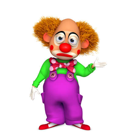 frizzy: 3d cartoon clown