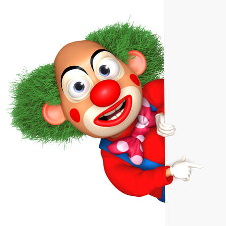 cartoon work: cartoon clown Stock Photo
