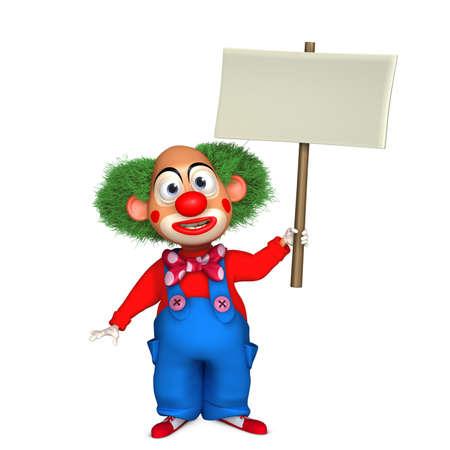 nose cartoon: cartoon clown Stock Photo