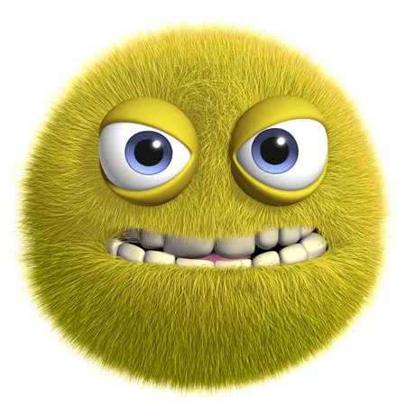 Dibujos animados 3d monstruo peludo lindo