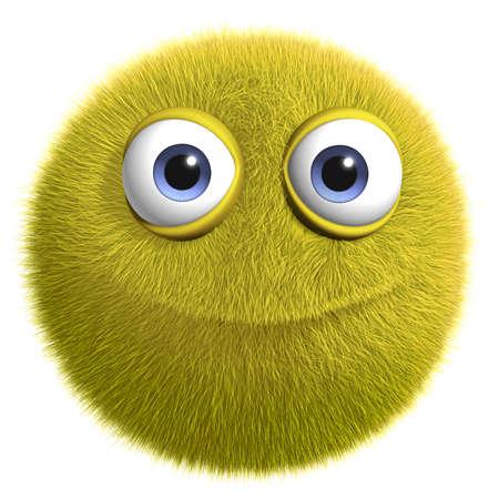 부드러운 털의: 3D 만화 귀여운 털복숭이 괴물
