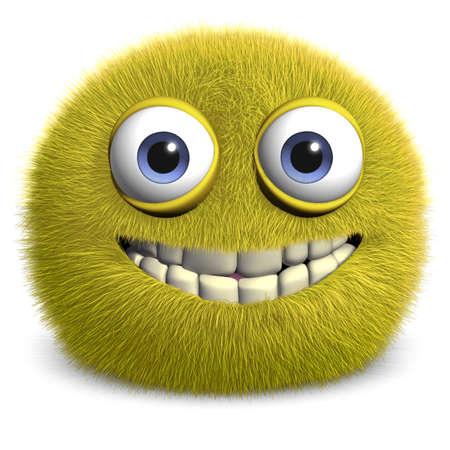 cute monster: 3d cartoon furry monster