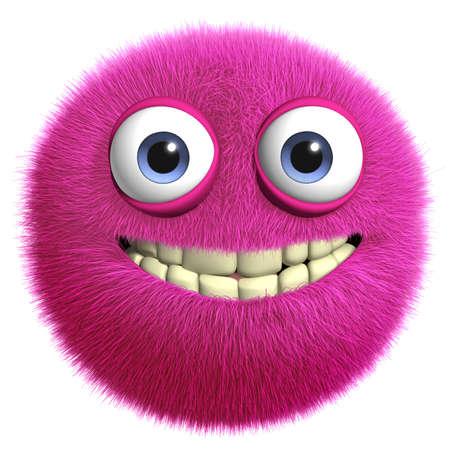 3d cartoon furry monster