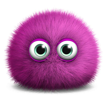 cartoon character: 3d cartoon furry monster