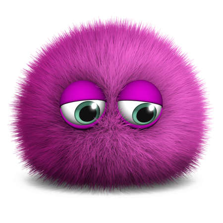 hairy adorable: 3d cartoon furry monster