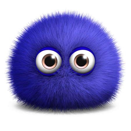 monster face: 3d cartoon furry monster