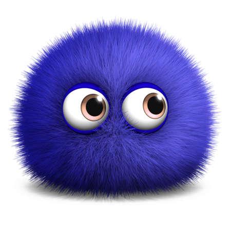 fuzzy: 3d cartoon furry monster