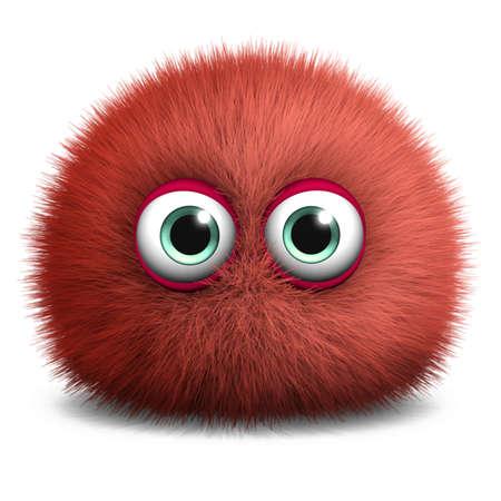 little insect: 3d cartoon furry monster