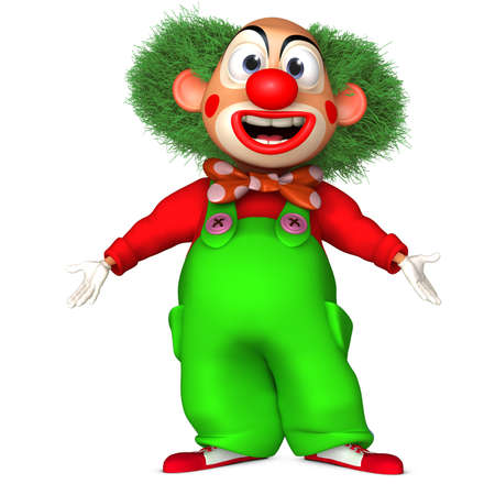 adult birthday party: cartoon clown Stock Photo