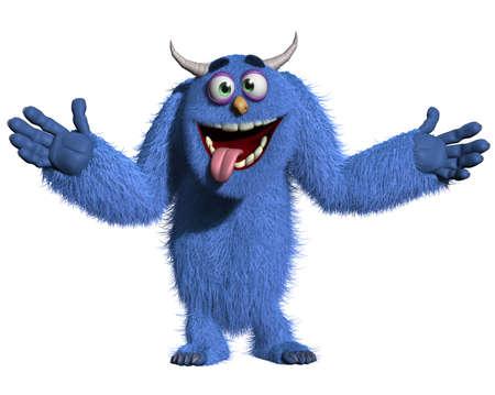 cartoon monster: monster