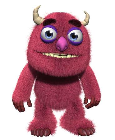 troll: 3d cartoon furry cute goblin