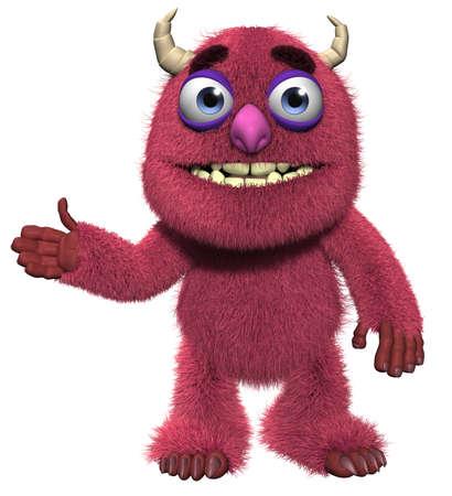goblin: 3d cartoon cute furry yeti