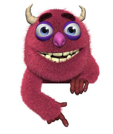 freak: 3d cartoon cute furry devil