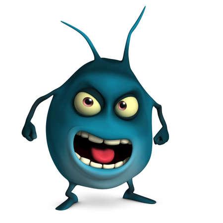 unicellular: 3d virus cute cartoon