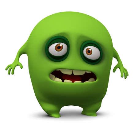 alien cartoon: 3d cartoon alien