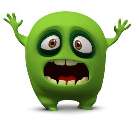 3d cartoon cute virus Imagens - 15734964