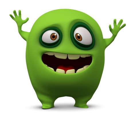 unhygienic: 3d cartoon cute monster