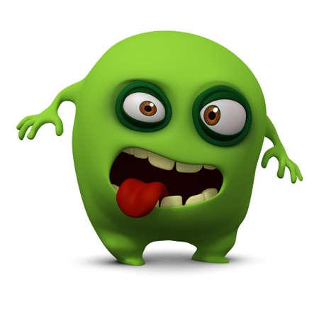 cartoon monster: 3d cartoon cute bug