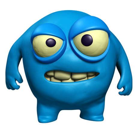 alien head: halloween blue monster