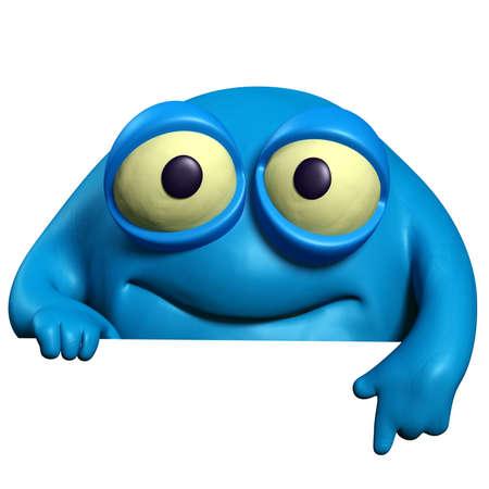 unicellular: cartoon blue cute beast