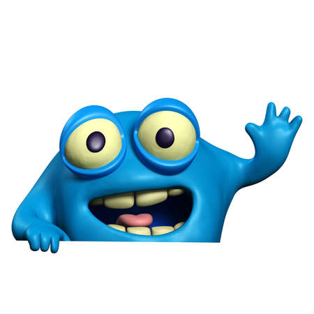 virus organism: cartoon cute monster Stock Photo