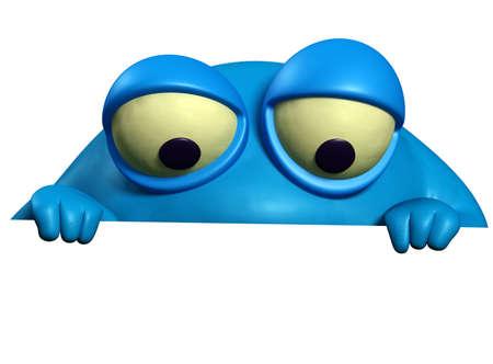 unicellular: mostro di cartone animato blu