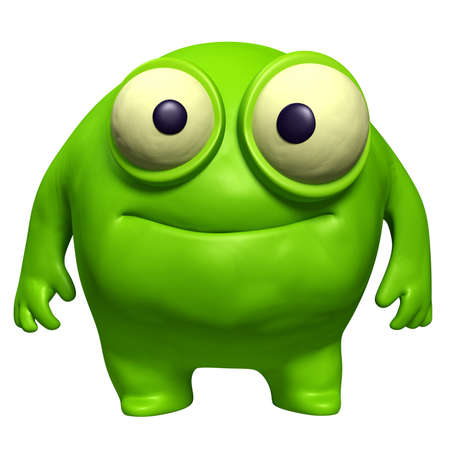 freak: cartoon green cute freak