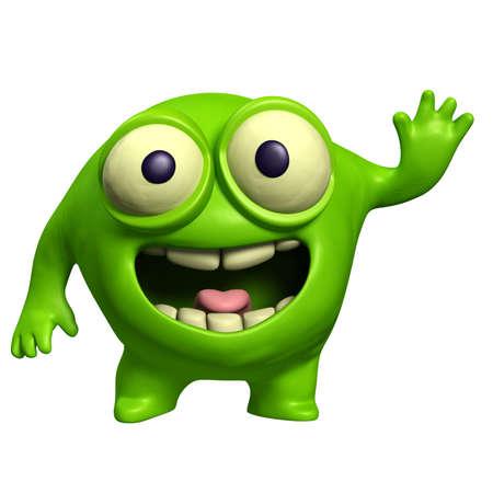 green alien photo