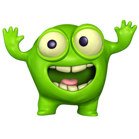 alien head: green monster