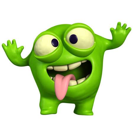 computer bug: crazy green monster