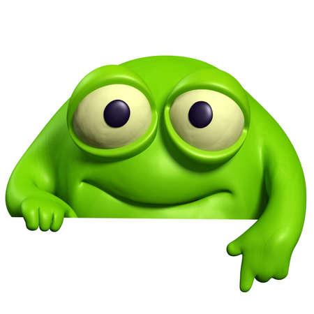 green cute beast