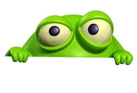 unicellular: mostro verde Archivio Fotografico